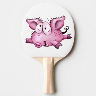 Ti-PIG Cartoon Ping Pong Paddle,  black Rubber 2