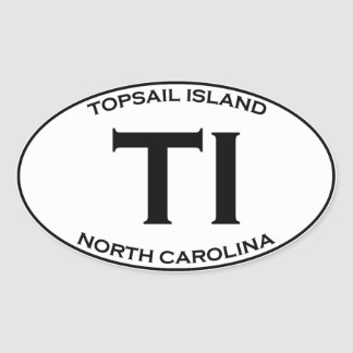 TI - Topsail Island North Carolina Oval Sticker