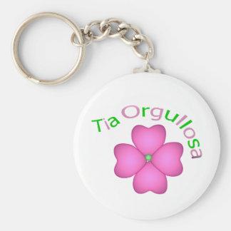 Tia Orgullosa Basic Round Button Key Ring