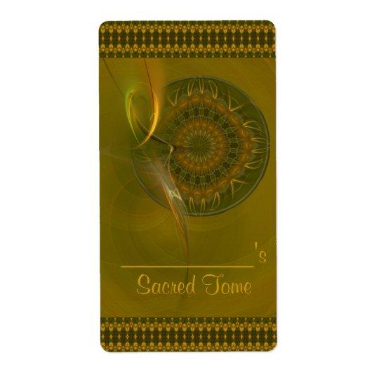 Tialtiu Harvest Goddess Abstract Art Shipping Label