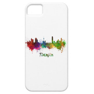 Tianjin skyline in watercolor case for the iPhone 5