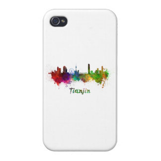 Tianjin skyline in watercolor iPhone 4/4S covers