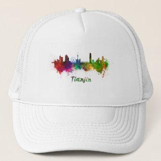 Tianjin skyline in watercolor trucker hat