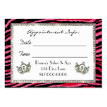 Tiara Animal Print / Pink / Appointment  Cards Large Business Cards (Pack Of 100)