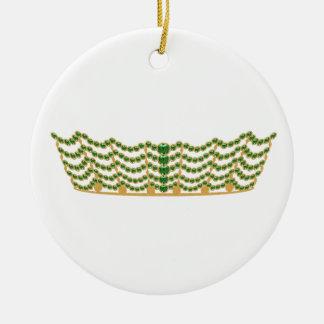 Tiara Collectible Round Ceramic Decoration