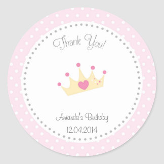 Tiara Little Princess Birthday Sticker
