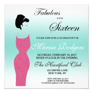 Tiara Party Fabulous Sweet 16 Birthday Invitation