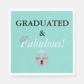 Tiara Party Graduation Celebration Paper Napkins