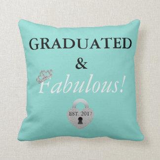 Tiara Party Graduation Celebration Throw Pillow