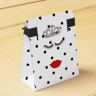 Tiara Party Polka Dot Favor Boxes