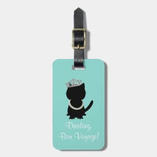 Tiara Party Tiffany Cat Luggage Tag
