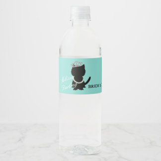 Tiara Party Tiffany Cat Water Bottle Labels