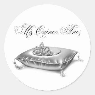 Tiara Princess Quinceanera Stickers