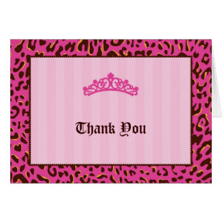 Tiara Thank You Card