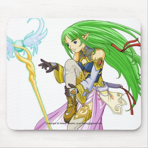 Tiara The Angel of Rune Mousepad