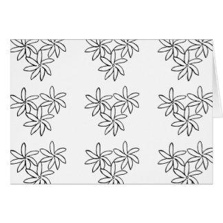 Tiare Flowers blank card