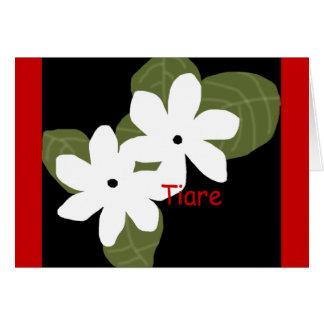 Tiare Tahitian flowers blank card