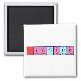 Tiberius periodic table name magnet