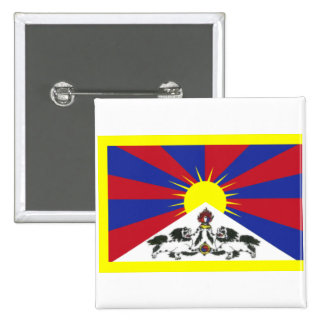 Tibet 15 Cm Square Badge