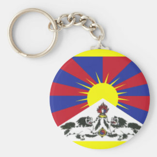 Tibet Basic Round Button Key Ring