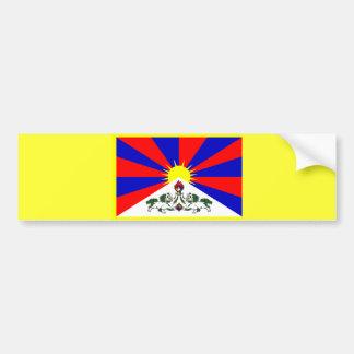 Tibet Flag Bumpersticker Bumper Sticker