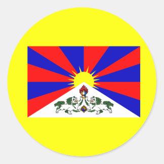 Tibet Flag Classic Round Sticker