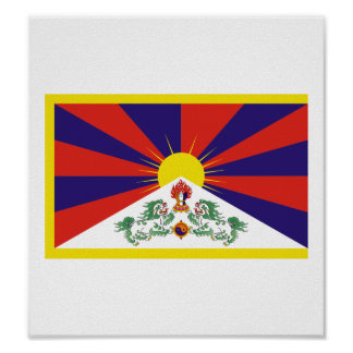 Tibet Flag Poster