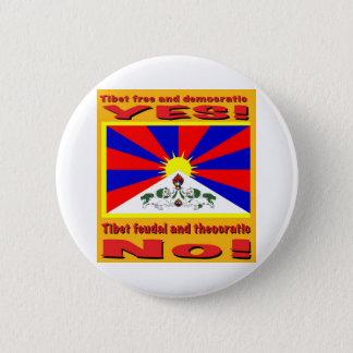 Tibet free and democratic 6 cm round badge