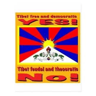 Tibet free and democratic postcards