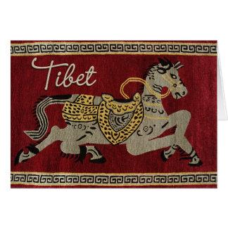 Tibet Horse Happy Card
