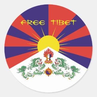 Tibet/Tibetan Flag. Free Tibet Classic Round Sticker