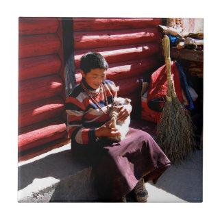 Tibetan Boy Ceramic Tile