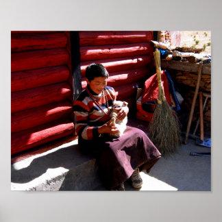Tibetan Boy Poster