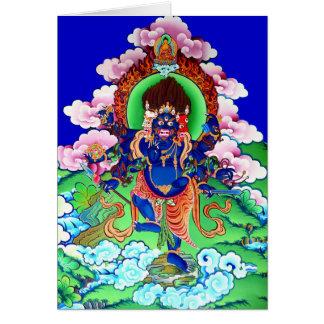 Tibetan Buddhism Buddhist Thangka Ucchusma Card