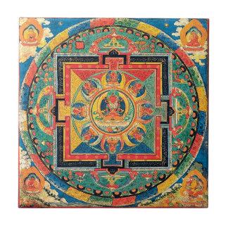 Tibetan Buddhist Mandala Tile