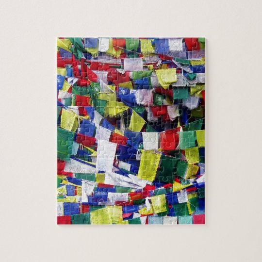 Tibetan Buddhist Prayer Flags Jigsaw Puzzle