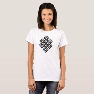 Tibetan eternity knot infinity endless symbol reli T-Shirt