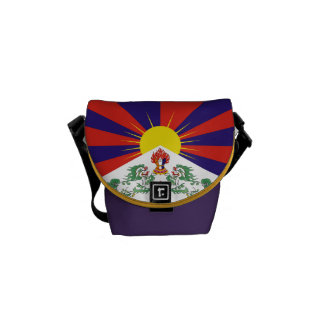 Tibetan Flag Mini Commuter Messenger Bag