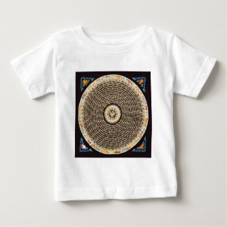 Tibetan Mandala Art (Black & Gold) Baby T-Shirt