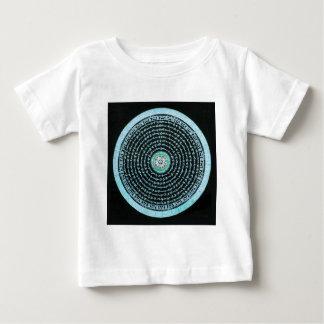 Tibetan Mandala Art (Turquoise & Black) Baby T-Shirt