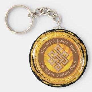 Tibetan Mantra Endless Knot Key Ring