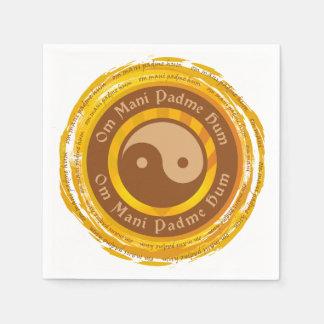 Tibetan Mantra Yin Yang Disposable Serviette