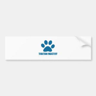 TIBETAN MASTIFF DOG DESIGNS BUMPER STICKER