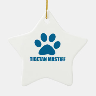 TIBETAN MASTIFF DOG DESIGNS CERAMIC ORNAMENT