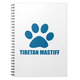 TIBETAN MASTIFF DOG DESIGNS NOTEBOOK