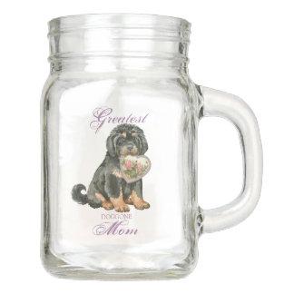 Tibetan Mastiff Heart Mom Mason Jar