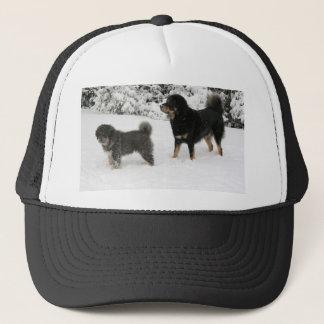 Tibetan Mastiff Jampo & Milo Trucker Hat