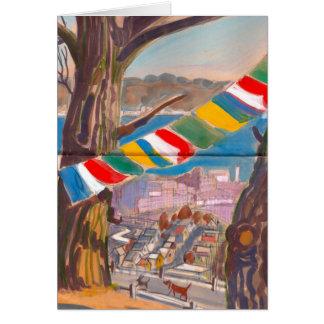 Tibetan Prayer Flag Card