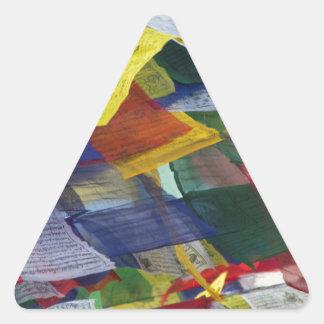 Tibetan Prayer Flags At Boudhanath Stupa Nepal Triangle Sticker