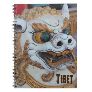 Tibetan Snow Lion Statue Notebook
